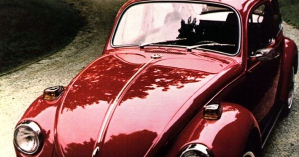 Candy Apple Red VW Bug