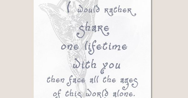 LOTR quote from Arwen