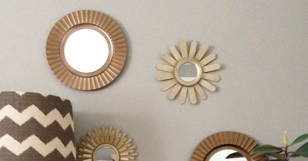 DIY some sunburst mirrors with some plate chargers and ...