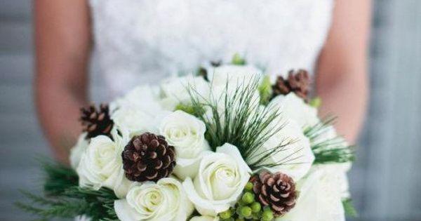 Winter Wedding Bouquets   My Bouquet : wedding bouquet brown dress flowers green ivory white ...