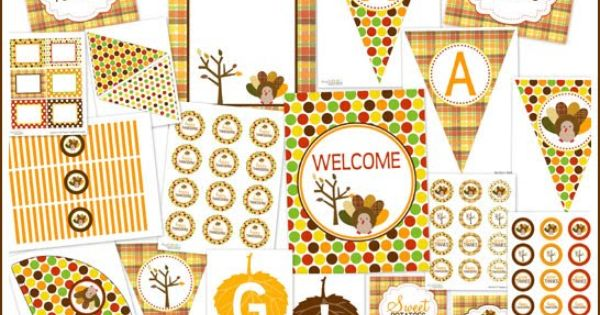 Free Thanksgiving Printable Party Package