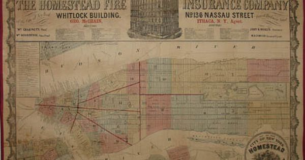 Homestead Fire Insurance Company Issued This Map Of New York City