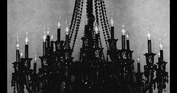 Black Chandelier Chandeliers And Gothic Chandelier On Pinterest