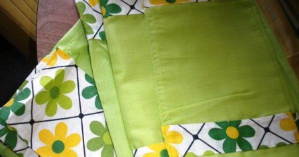 Vintage Yellow Green Crazy Daisy Kitchen Curtain Kitchen Curtains Vi