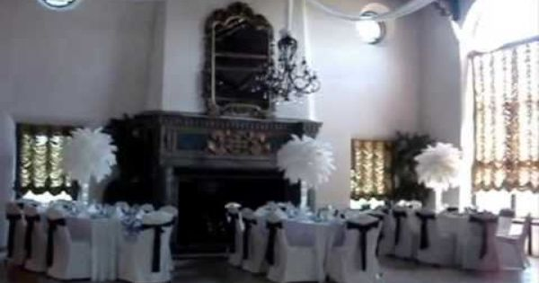 Rent white wedding ostrich feathers centerpieces by sweet
