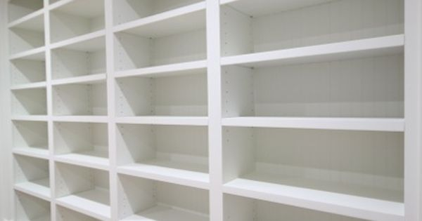 Diy Library With White Built Ins Fixed And Adjustable