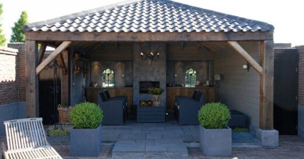 Overdekt terras met haard! - Tuin : Pinterest - Met en Tuin