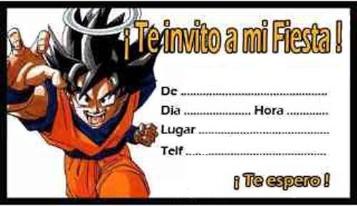 Tarjetas De Cumpleaños De Dragon Ball 3 Cumpleaños De
