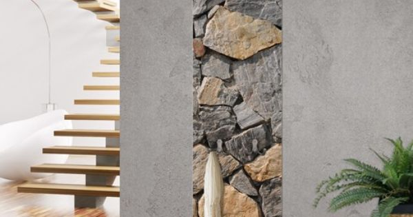 wandgarderobe in steinoptik granitic wall garderobe. Black Bedroom Furniture Sets. Home Design Ideas
