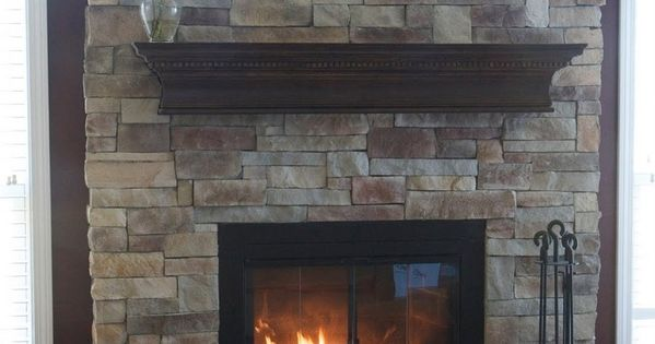 Love This Stone Color Mantle And Raised Lower Part Of The