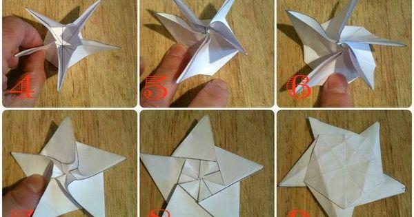 Origami No L Comment Faire Des Toiles Origami D Coratives Origami Stern Falten Sterne