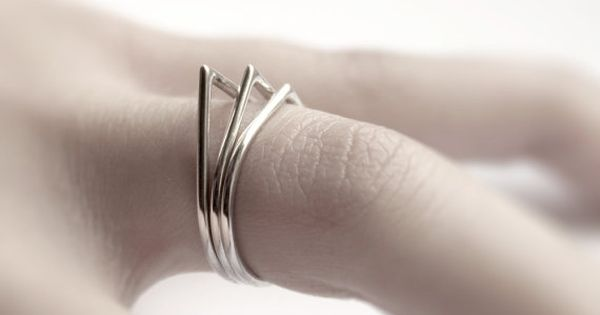Thorns . three sterling silver stacking rings. $80.00, via Etsy. jewelry