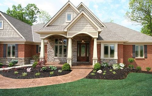 Traditional Brick Ranch Homes With Great Exterior Trim