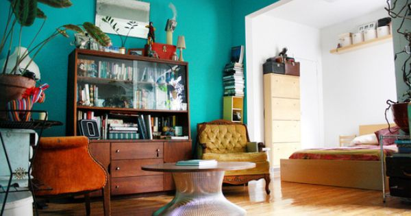 turquoise living room color