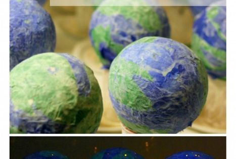 Earth Day Light-Up Globes. Awesome craft idea!