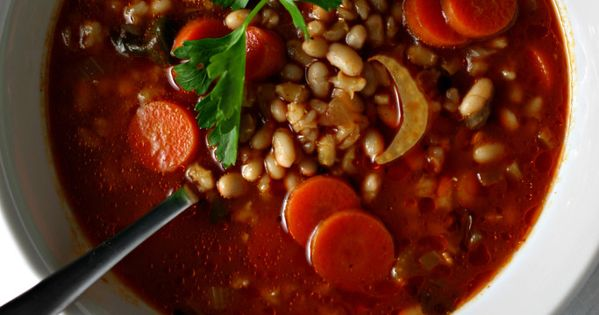 White bean soup, White beans and Italian on Pinterest
