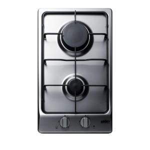 Summit Appliance 12 In Gas Cooktop In Stainless Steel With 2 Burners Gc22ss Gas Cooktop Glass Cooktop Outdoor Kitchen Appliances