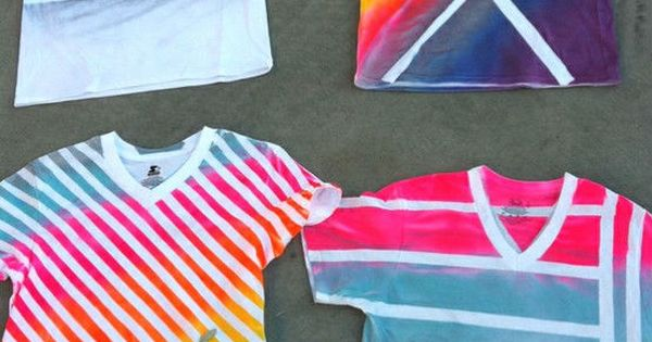 Use An Old T-Shirt, Some Spray Paint, And Duct Tape To Make
