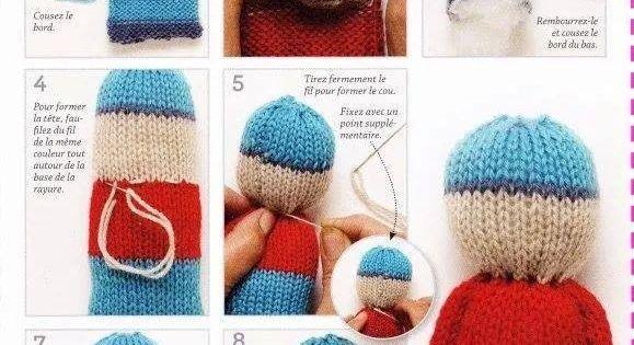 Doudou facile par isalaine tricot pinterest poup es tricot es et poup es - Doudou facile a realiser ...