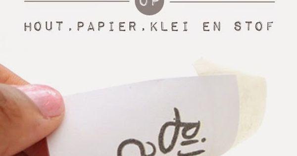 Transfermarker: eenvoudig prints overbrengen op stof, hout, papier en klei