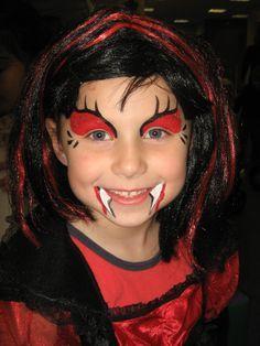 Vampire Face Paint Children Google Search Madchen Schminken
