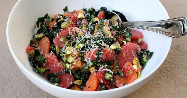Citrus Salad with Kale, Pistachios & Pecorino by kristin ...