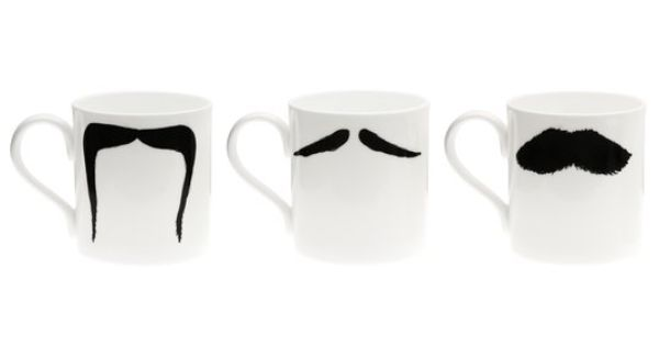 Moustache Mug Set. Designed by Peter Ibruegger. Curated by Matthew Epstein