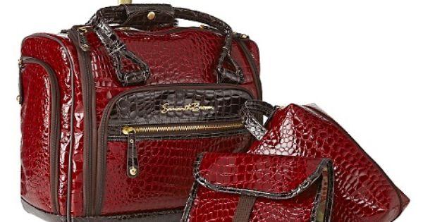 Samantha Brown Luggage Qvc: Samantha Brown Croco-Embossed Underseater