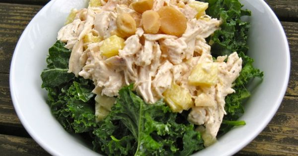 Creamy, summery chicken salad with flavors reminiscent of Hawaii ...