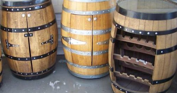 Great Idea For A Wall Cabinet A Half Barrel With Doors For A Base Cabinet Would Be Awesome Wine Barrel Bar Barrel Bar Wine Barrel