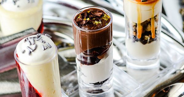 Raspberry Black Forest Parfait Shots Recipe — Dishmaps