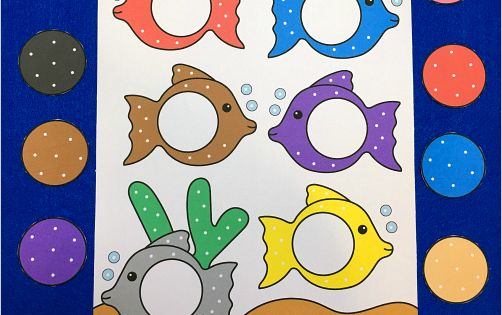 Fish Color Match File Folder Game To Help With Color