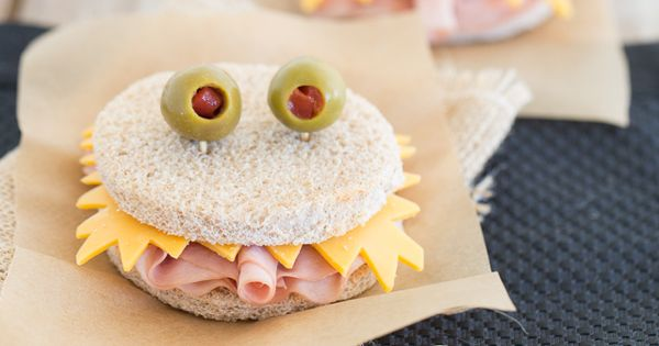 Monsters, Sandwiches and Healthy snacks for kids on Pinterest