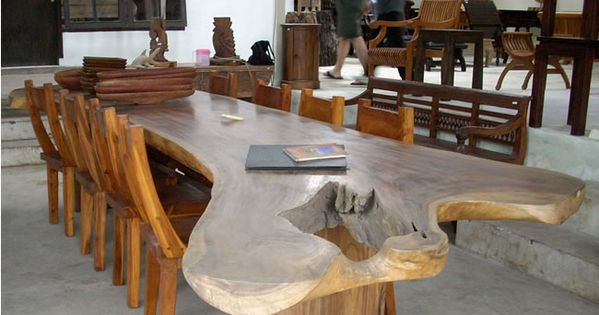 Large dining table teak wood furniture from bali indonesia outdoor dining table artsy maybe Uni home furniture indonesia