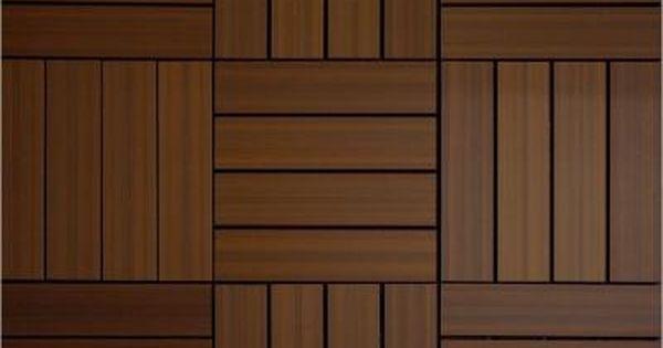 Newtechwood Composite Deck Tile Kit In Ipe Color 10 Tiles Case Common 12 In X 12 In Actual 11 5 In X 11 5 Deck Tile Interlocking Deck Tiles Deck Tiles