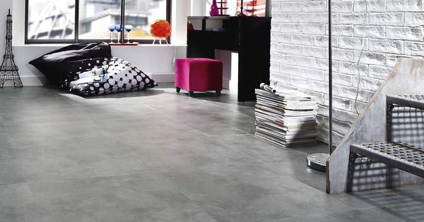 dalle vinyle auto adh sive imitation b ton gris caractere urban saint maclou sols en vinyle. Black Bedroom Furniture Sets. Home Design Ideas