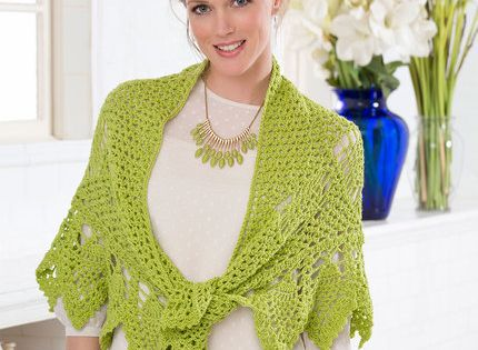 Romantic Pineapple Shawl / free pattern from Red Heart ...