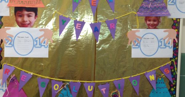 Classroom Ideas For New Years ~ New years resolution kindergarten bulletin board