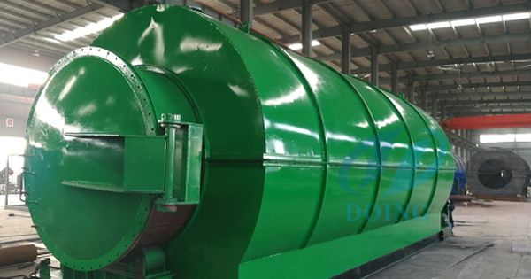 The Waste Tyre Pyrolysis Plant Is To Feed The Raw Materials Such As Tyre And Plastic On One Side And Discharge T Energy Saving Equipment Waste Plastic Waste
