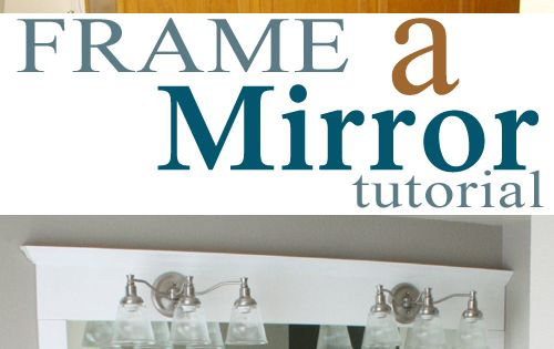 Could frame mirror over fake fireplace. Frame a bathroom mirror tutorial bathroom