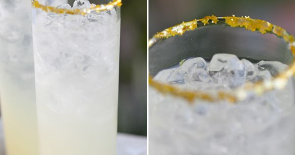 Edible gold glitter sugar rim. Perfect for a gold cocktail!