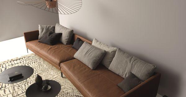 PILOTIS Leather Sofa Pilotis Collection By COR Sitzmöbel Helmut Lübke Designu2026    Sofa   Pinterest   Modern Interiors, Interiors And Modern