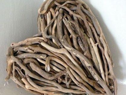 Coeurs en bois flott bricolage pinterest amour c ur for Arche en bois flotte