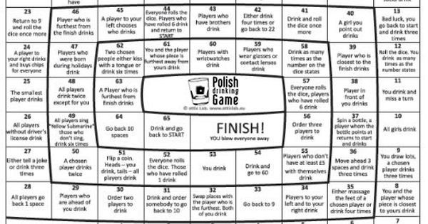Polish drinking game party ideas pinterest drinking for Food bar drinking game