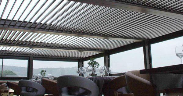 P rgolas de lamas de aluminio biossun hsr9 pinterest - Pergolas de aluminio para terrazas ...