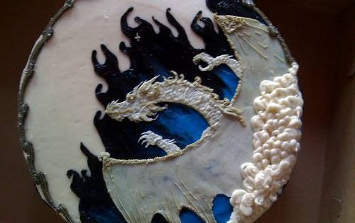 Bahamut Dungeons And Dragons Cake Made With Buttercream
