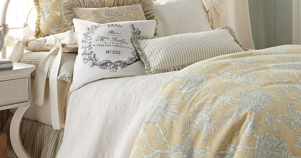 "Toile Laundry Room Ideas: French Laundry Home ""Spring Garden"" Bed Linens"