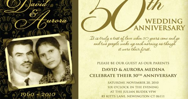 Golden Wedding Anniversary Invitations Wording: 50th Wedding Anniversary Invitation Wording Ideas Wedding