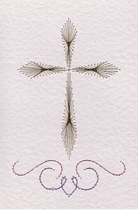 Free Cross Pattern At Stitching Cards With Images Paper