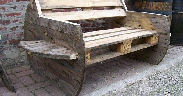 Leuk om zelf te maken cosas de madera pinterest - Bancos de madera rusticos ...